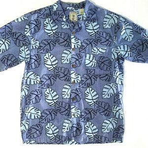 Mens Shirt Button Front Roundtree & Yorke Sz M Blu